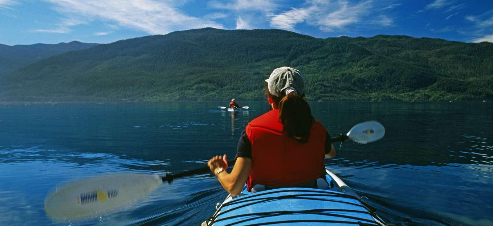Voyage sur l'eau Canada : L\'île de Vancouver : kayak au pays des orques