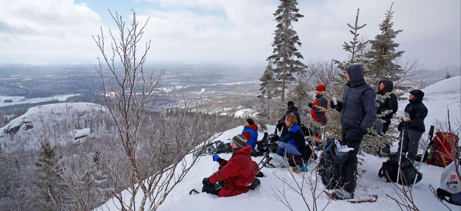Voyage à pied Canada : Y\'aura de la neige à Noël !