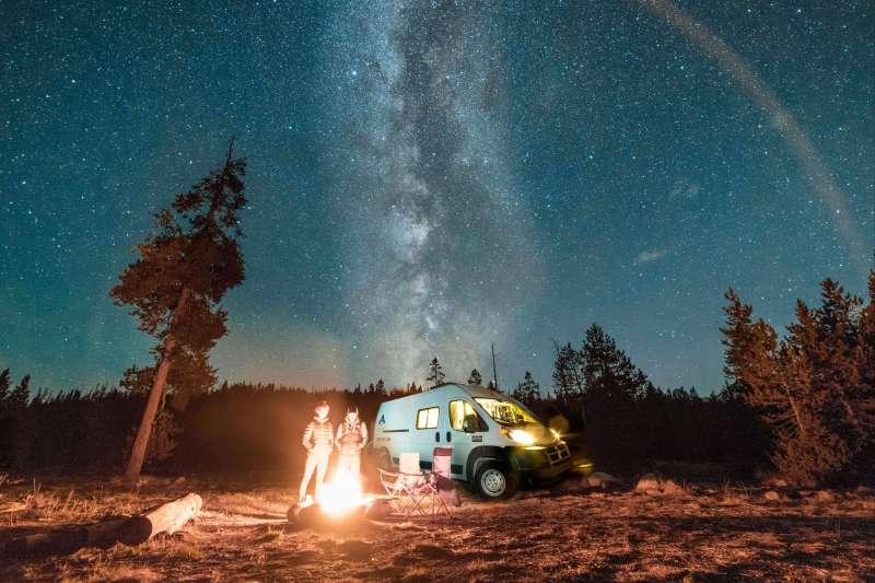 Voyage sur l'eau : Mon Campervan sous les étoiles