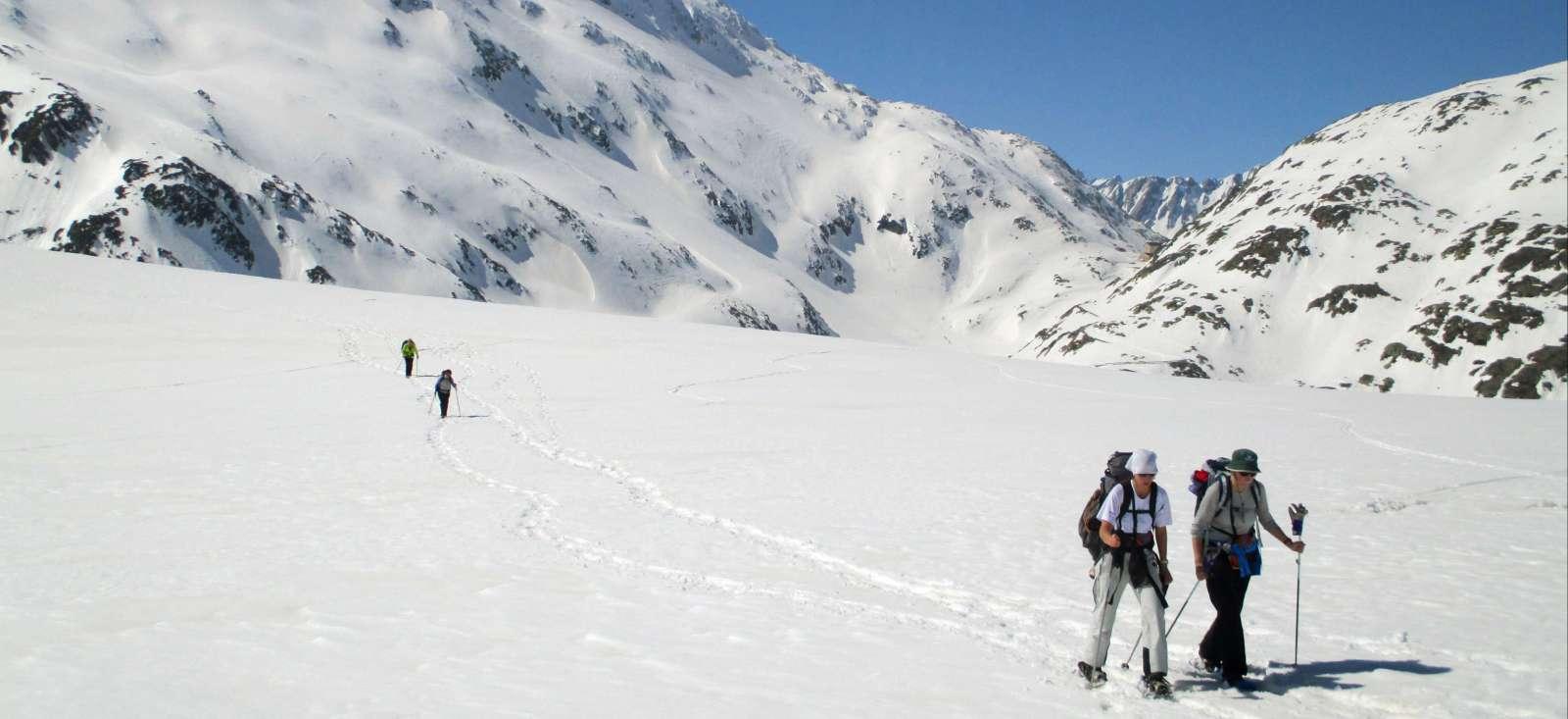 Voyage à pied : Les Alpes suisses à raquette