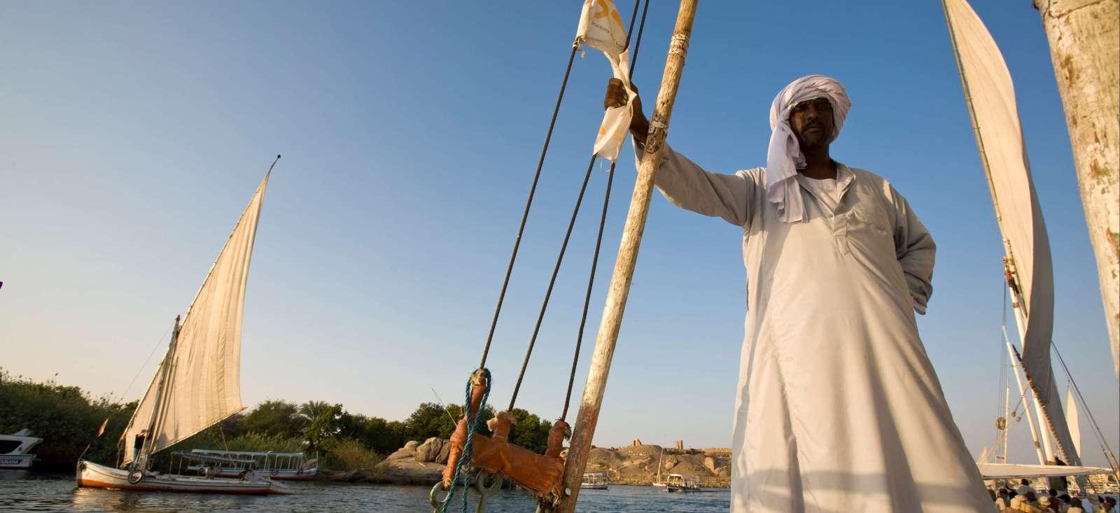 Voyage à pied : Egypte : Le Nil en sandal et à pied