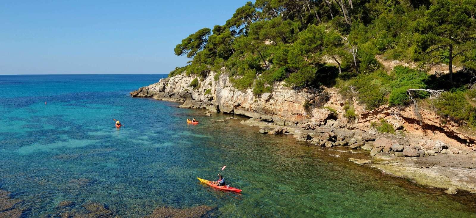 Voyage à pied Espagne : Tour de Minorque en kayak de mer