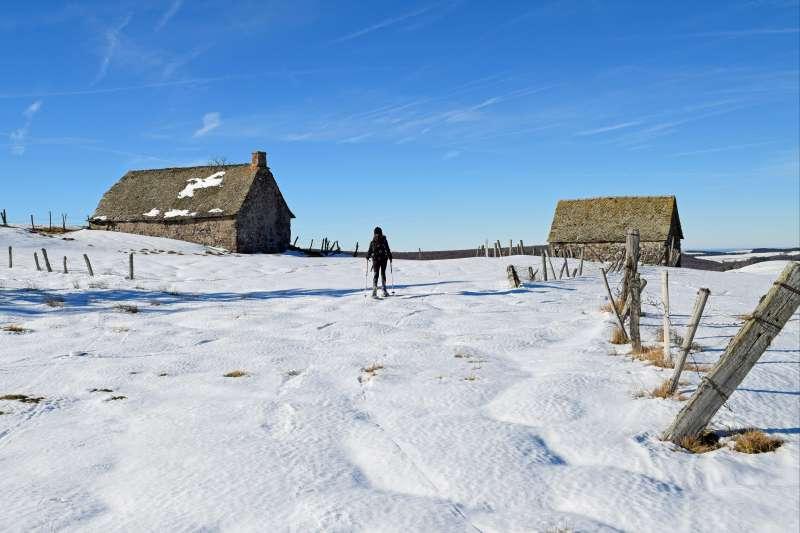 Voyage à la neige : France : Raquette en Aubrac