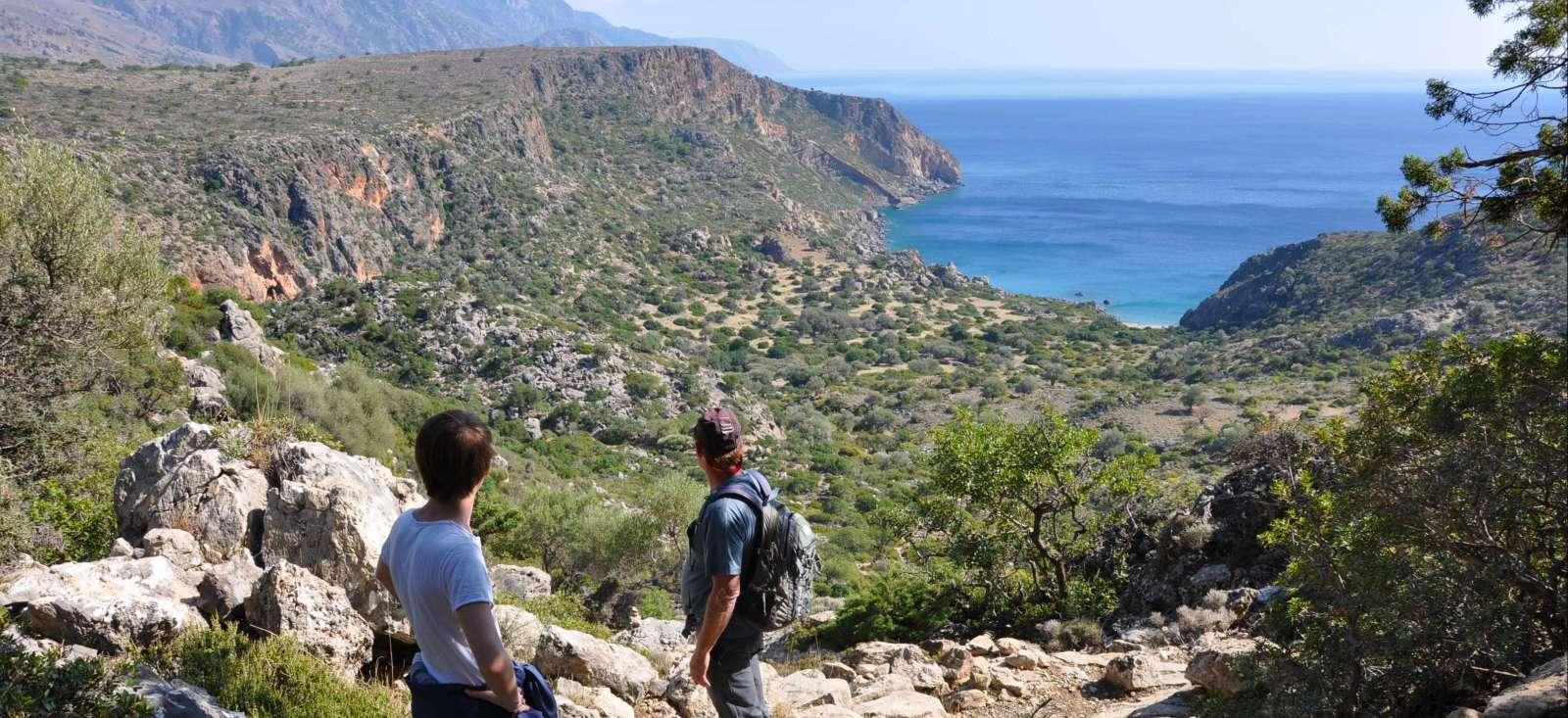 Voyage à pied : La Crète en famille : l\'odyssée des dieux