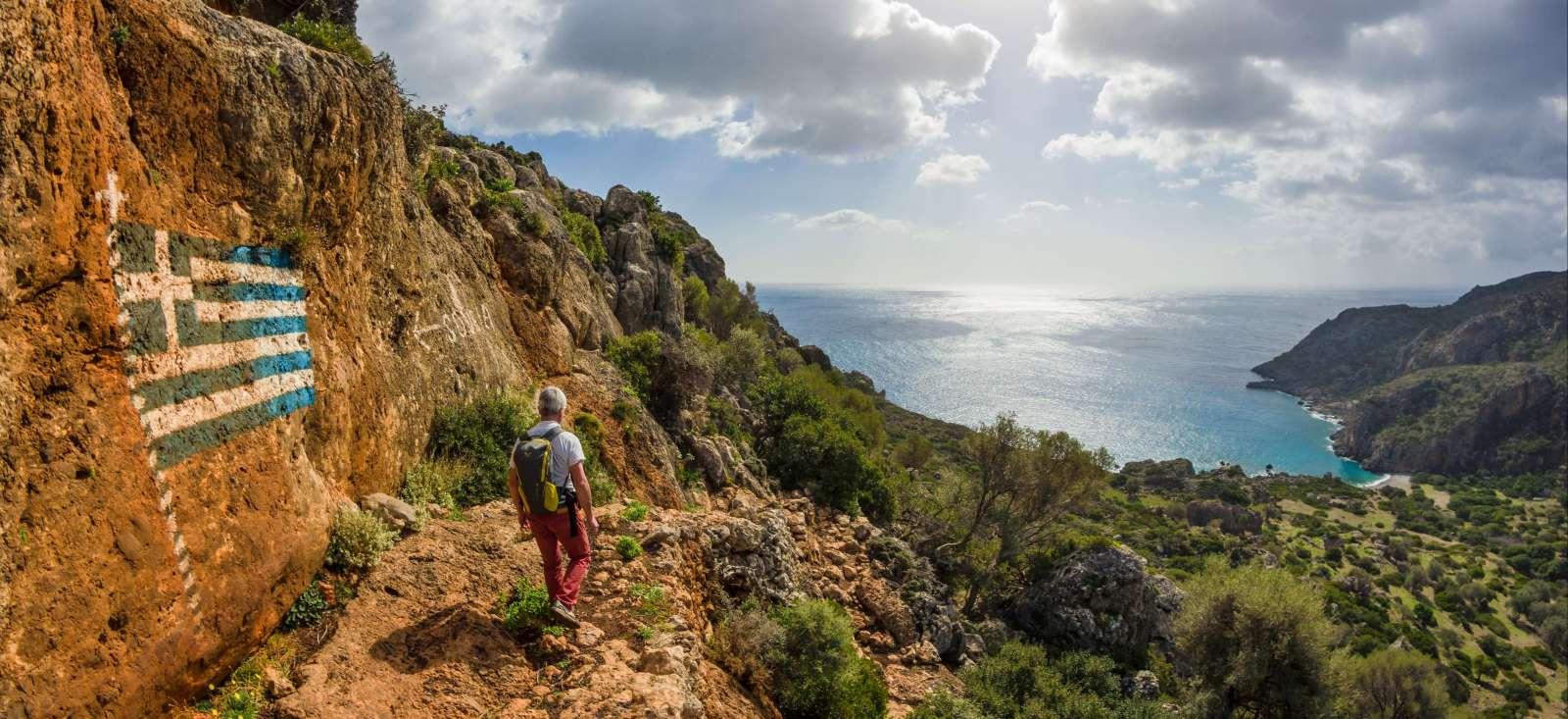Voyage à pied : Mer et montagne : le 2 en 1 crétois.