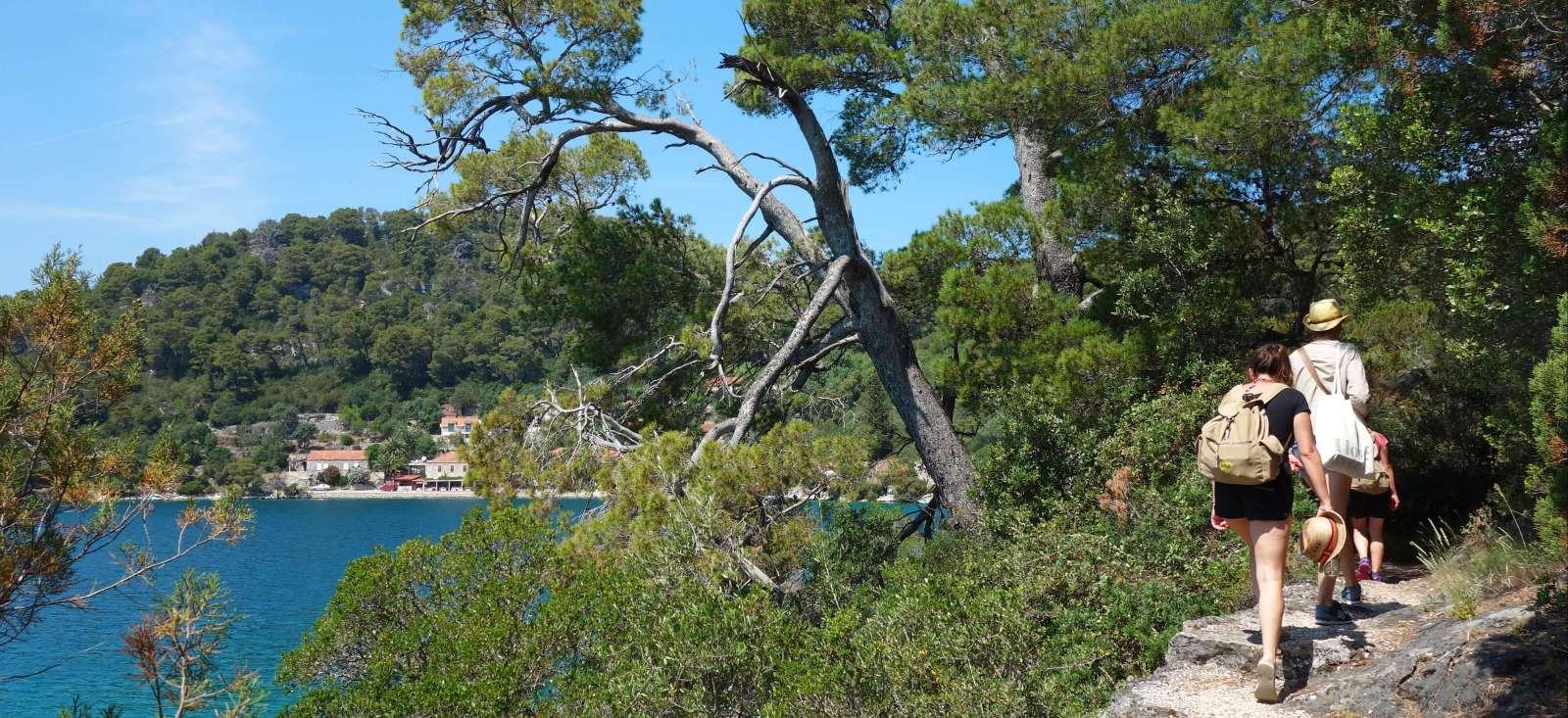 Voyage à pied : Mljet, 100% nature