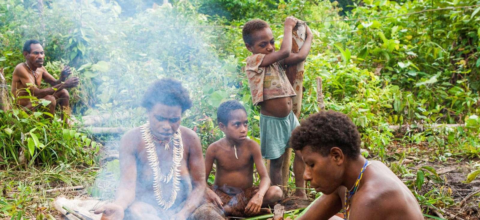 Voyage à pied : Indonésie : Chez les Papou Korowaï