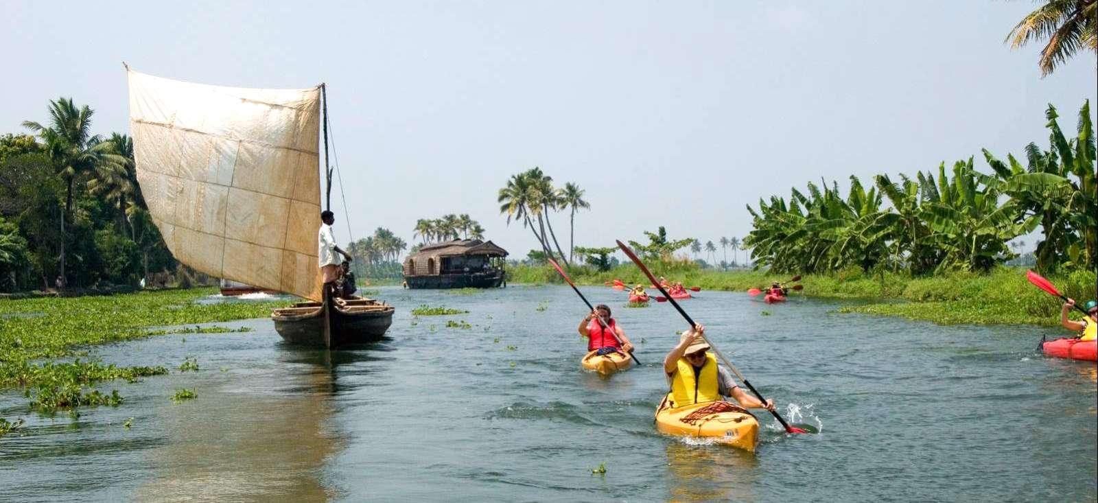 Voyage sur l'eau : Le Kerala à pied, en vélo et sur l\'eau !