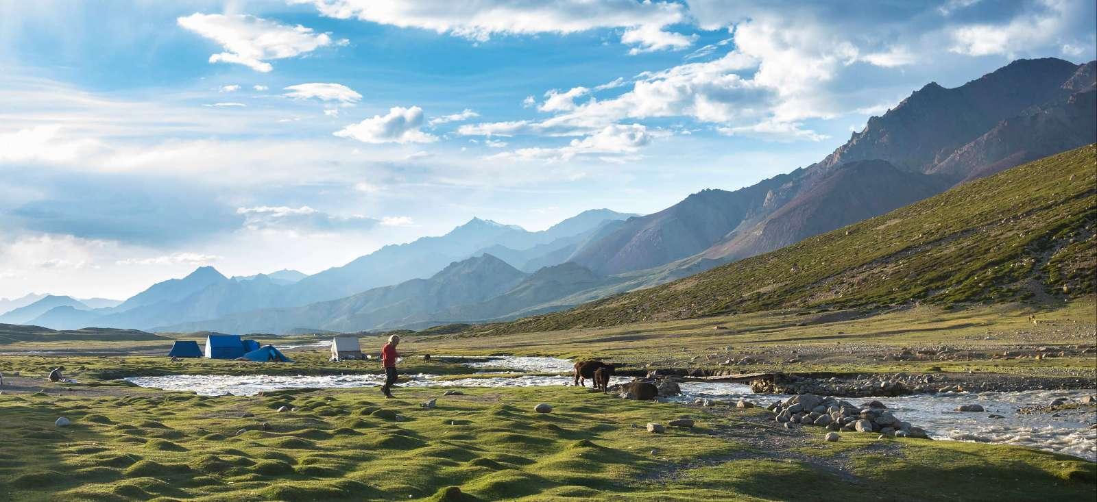 Image Trek dans la vallée de la Markha