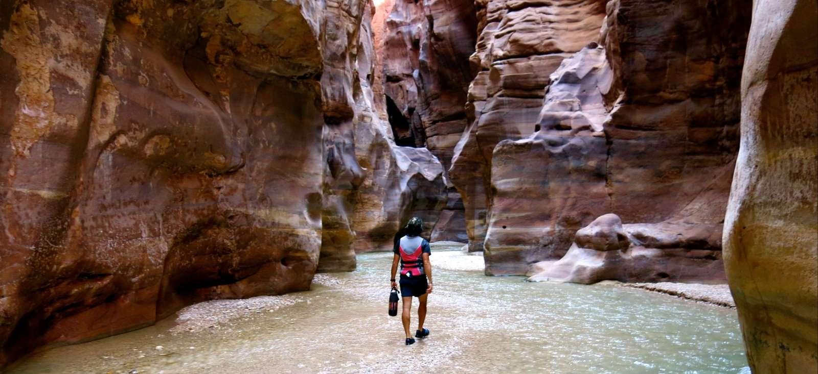 Voyage à pied Jordanie : Eaux vives et dunes rouges