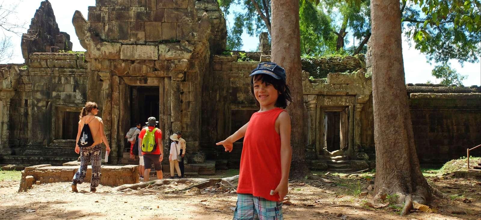 Voyage à pied : Aventure Khmer en famille (spécial enfant)