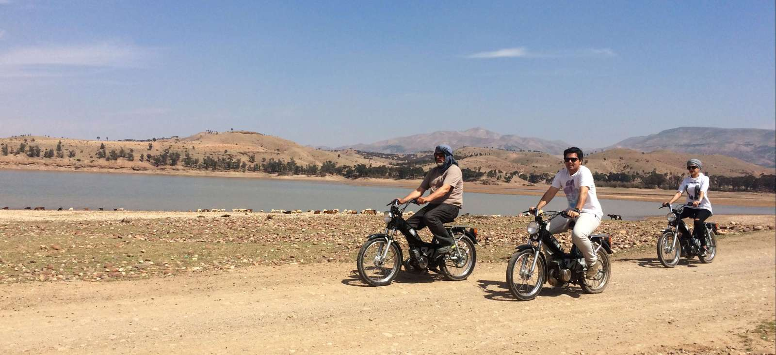 Voyage à moto : En mode mobylette dans le désert !