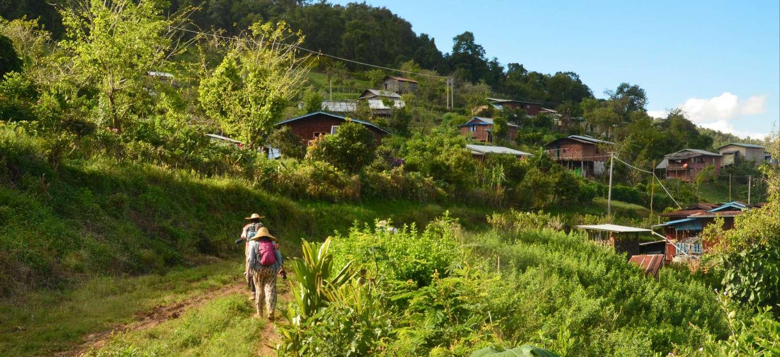 Voyage à pied : Randonnée en pays Shan