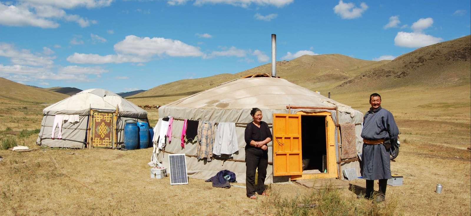 Voyage à pied : Steppes en trek et yourtes mongoles