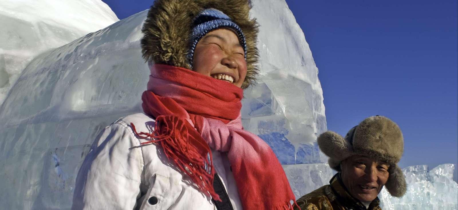 Voyage à pied : Sur les glaces de Gengis