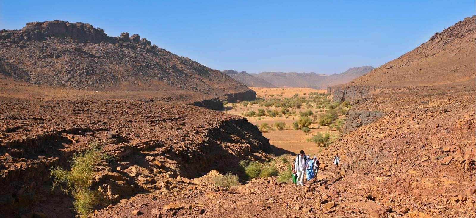 Voyage à pied : De Chinguetti aux dunes de l\'Amatlich