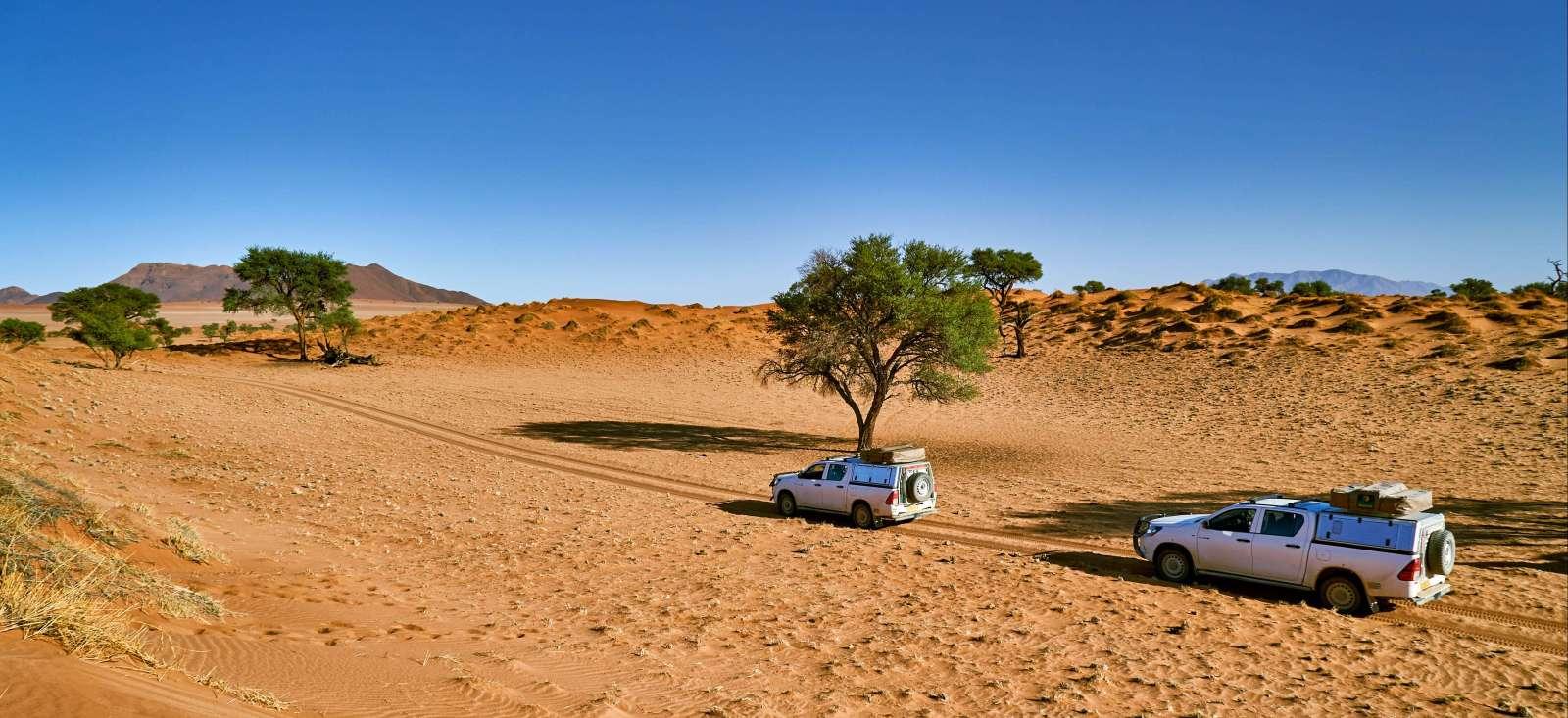 Voyage en véhicule : Exploration in Namibia!