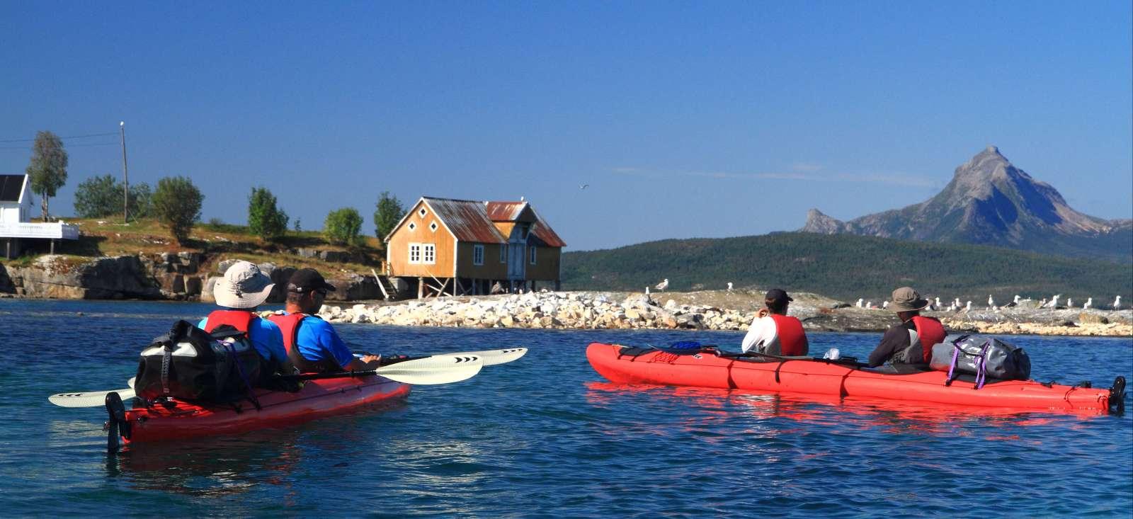 Voyage sur l'eau Norvège : Rando kayak dans la baie d\'Efjord