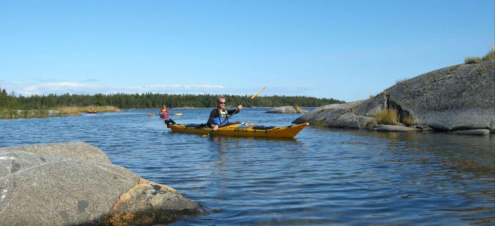 Voyage à pied Suède : Kayak dans l\'archipel de Stockholm