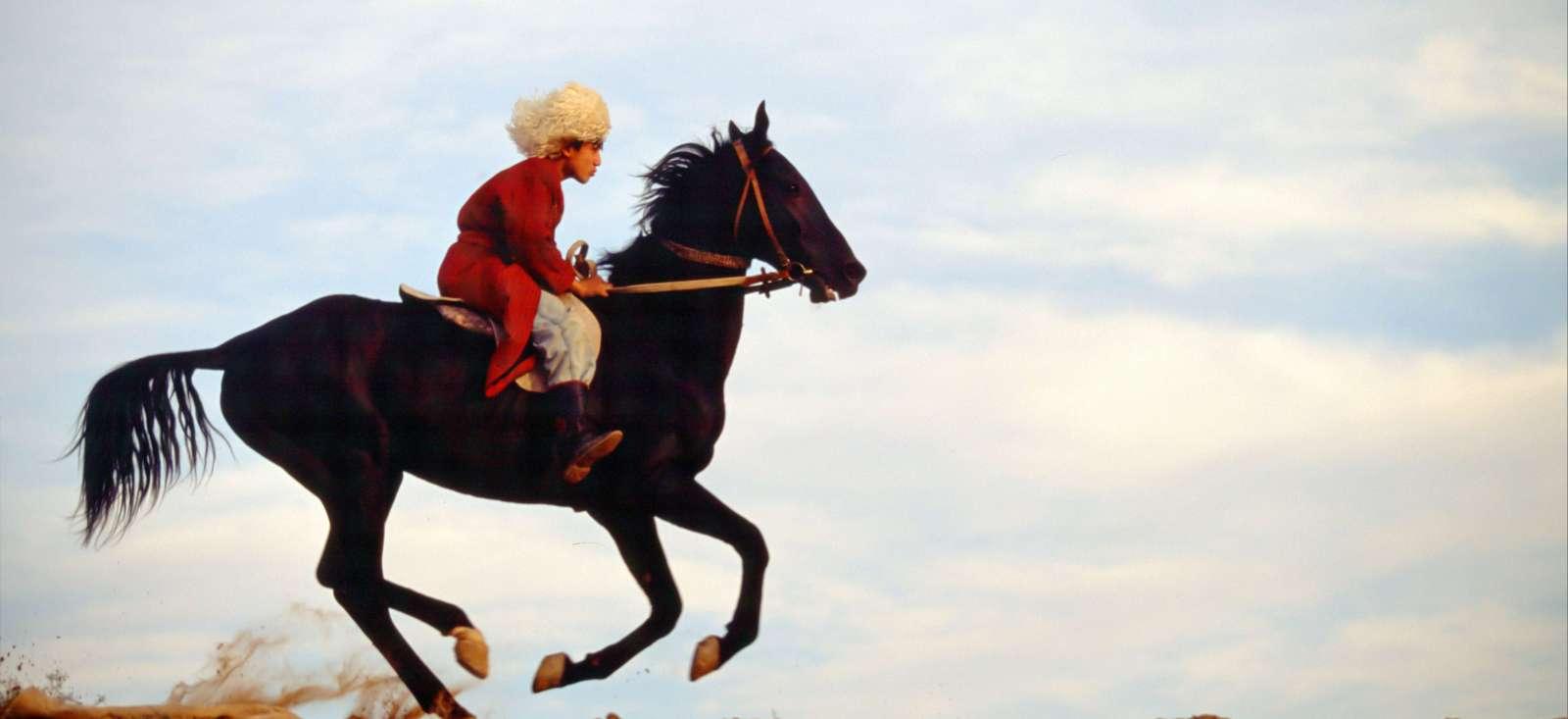 Voyage avec des animaux Turkménistan : Le Turkménistan au grand galop
