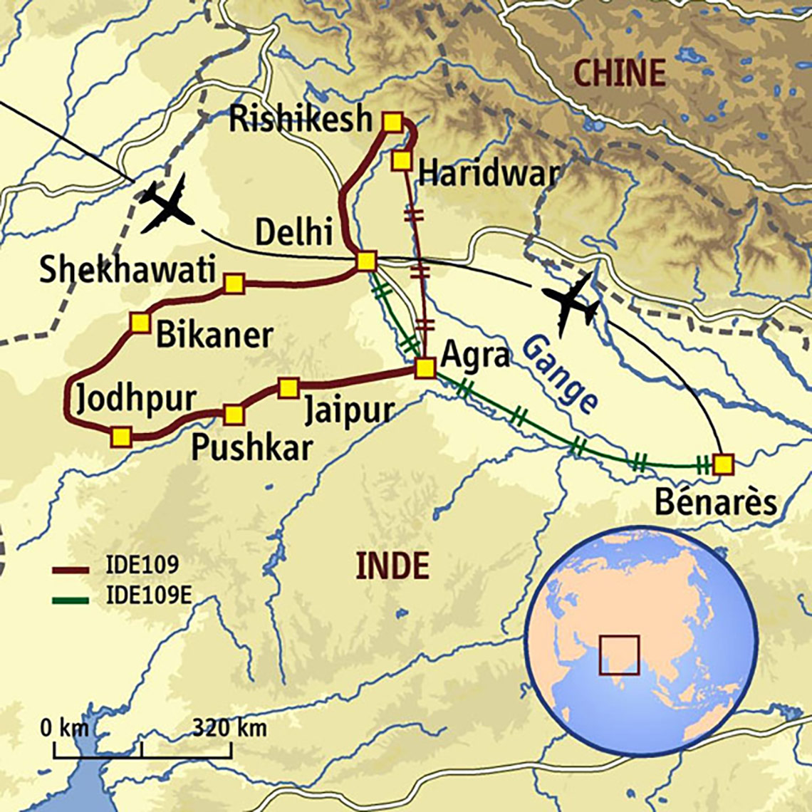 Itinéraire Méditations Indiennes & Extension à Bénarès