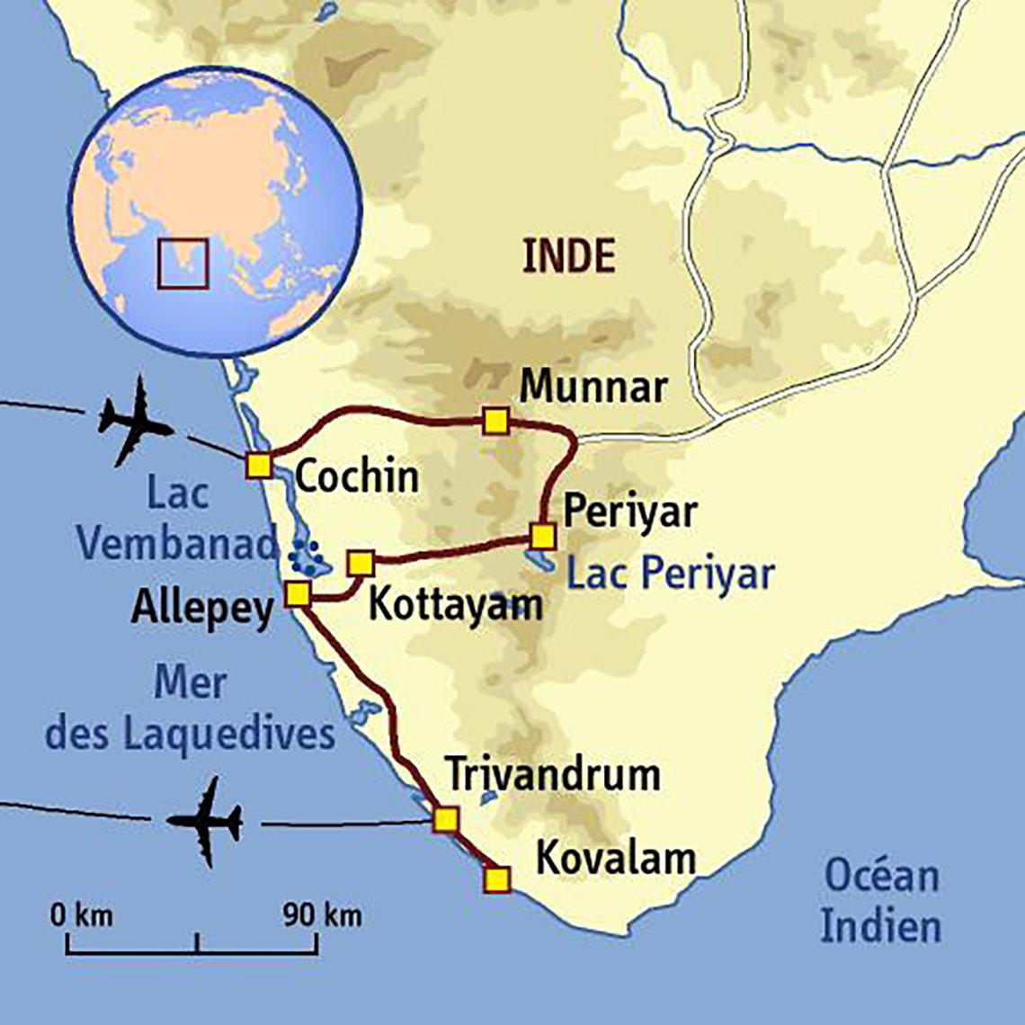 Itinéraire Le Kerala, version bien-être