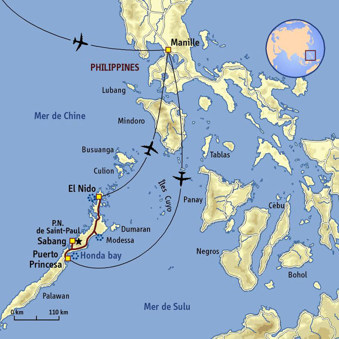 Carte Philippines Voyage Philippines Palawan