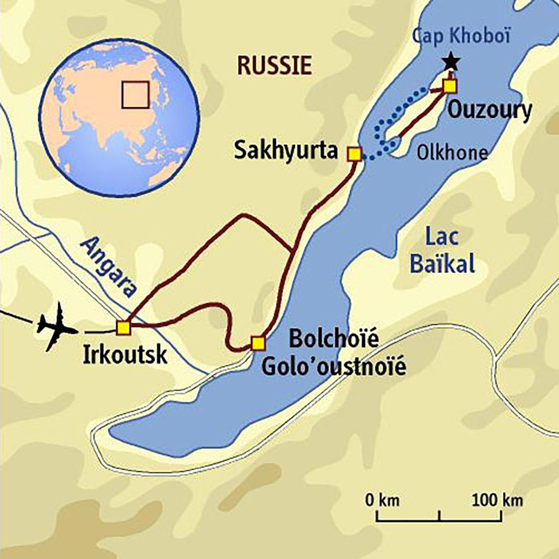 Itinéraire Un kayak pour le Baïkal...