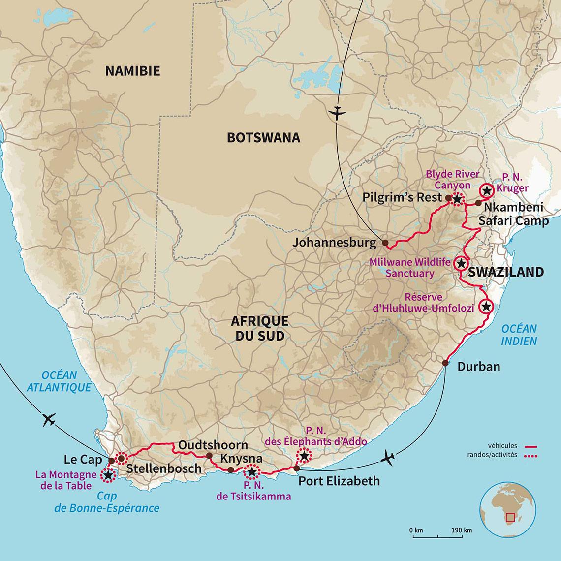 Carte Afrique Johannesburg.Safari Afrique Du Sud Du Kruger Au Cap De Bonne Esperance