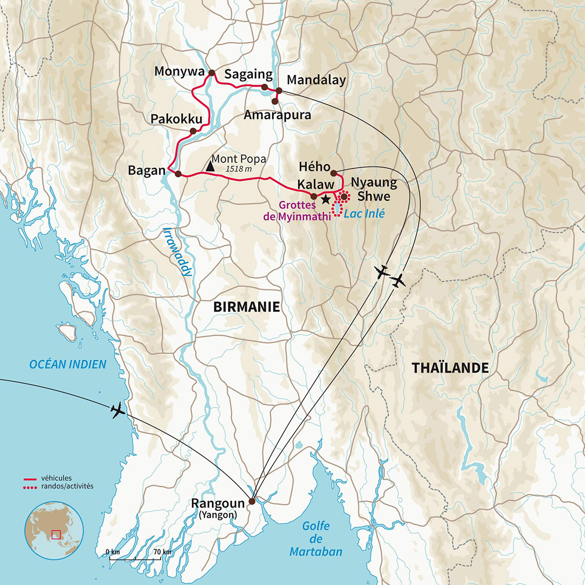 Birmanie En Hors BattusBalade Terre Sentiers Birmane Nomade rdtsCQh