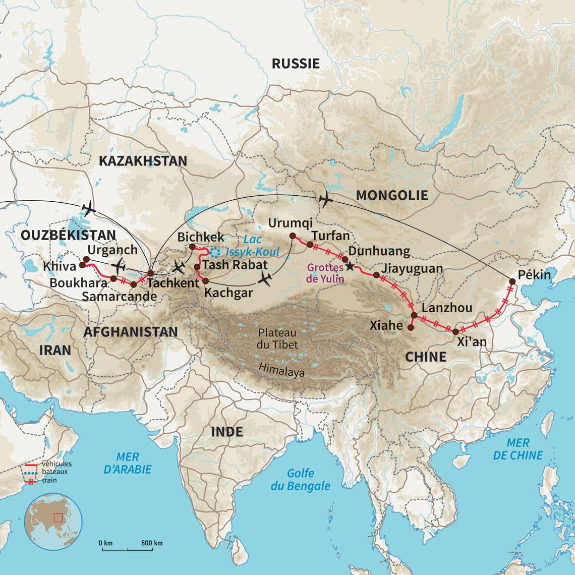 route de la soie voyage