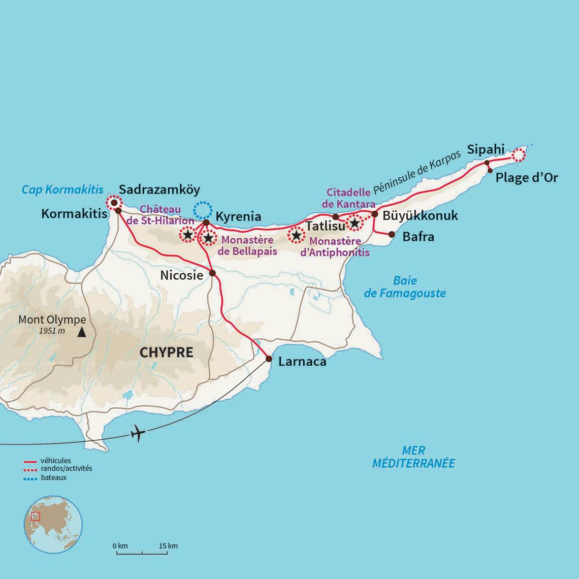 Carte Ign Chypre.Voyage Chypre Feminin Rando Hammam Entre Filles Nomade