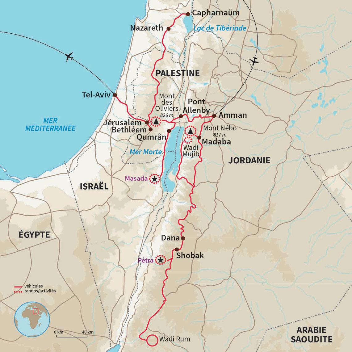 Carte Jordanie Israel.Autotour Jordanie Israel Voyage En Terre Sainte Nomade
