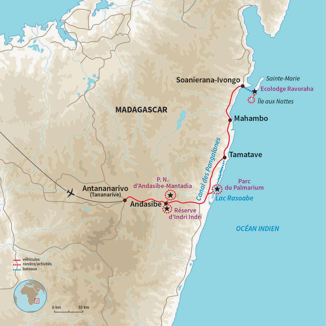 Carte Telephonique Madagascar Pas Cher.Circuit Famille Madagascar Cap A L Est En Famille