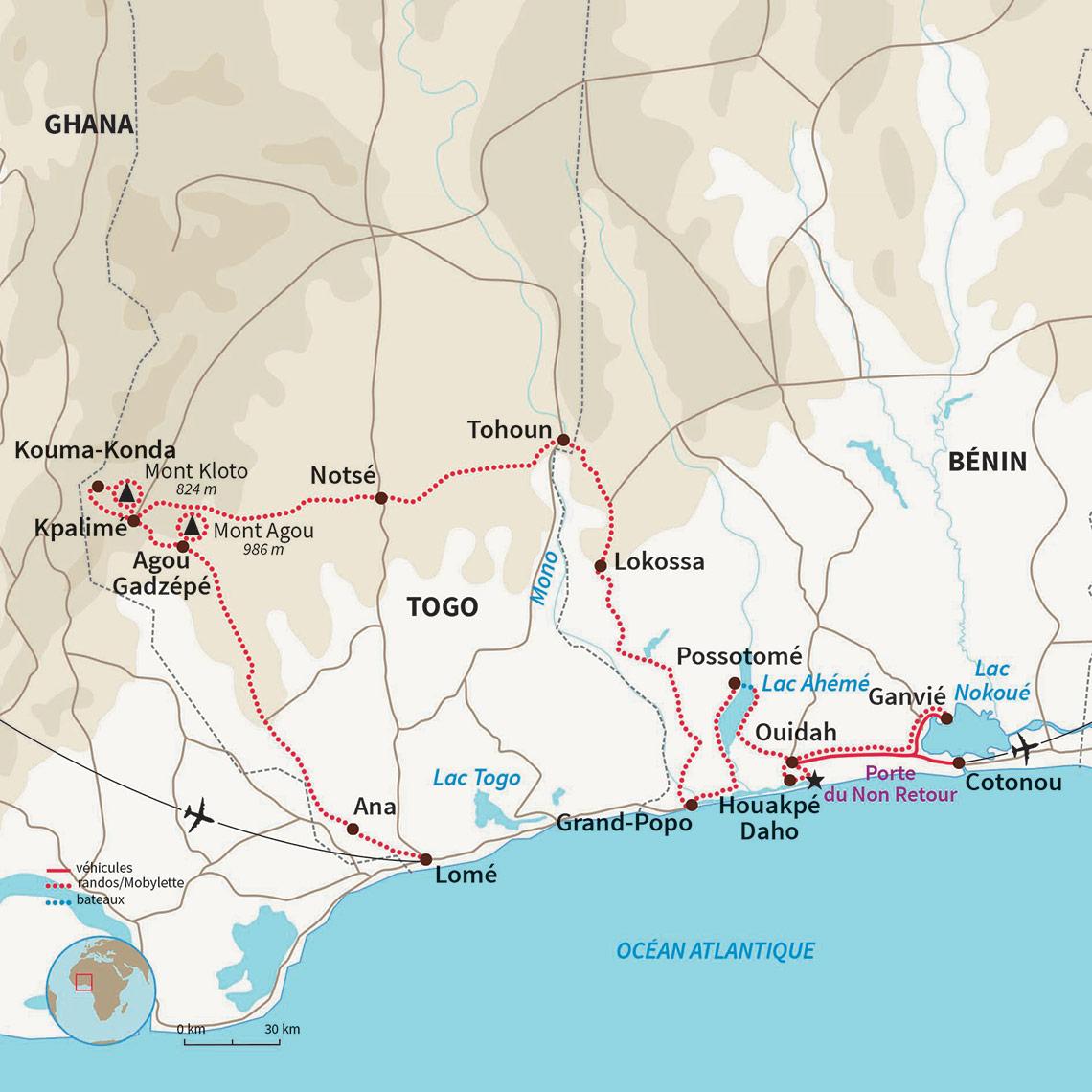 a3570e30fc Voyage Togo et Bénin à Mobylette : Panorama